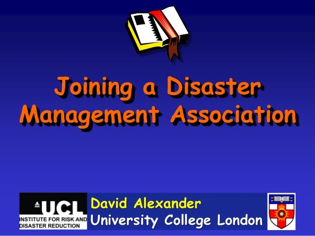 Joining a Disaster Management Association