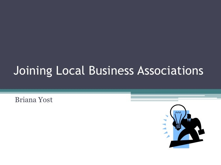 Joining Local Business Associations