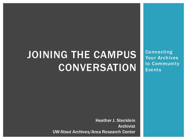 Joining The Campus Conversation