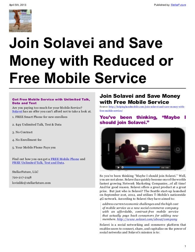Join Solavei and Save Money with Reduced or Free Mobile Service