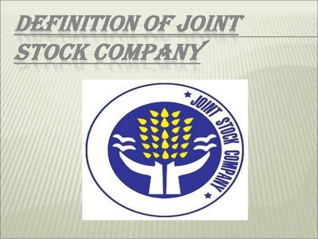 formation of a joint stock company