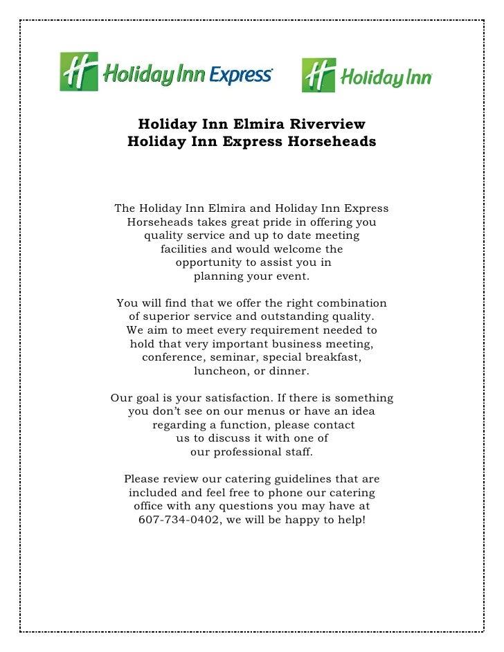 Holiday Inn Elmira Riverview   Holiday Inn Express HorseheadsThe Holiday Inn Elmira and Holiday Inn Express  Horseheads ta...