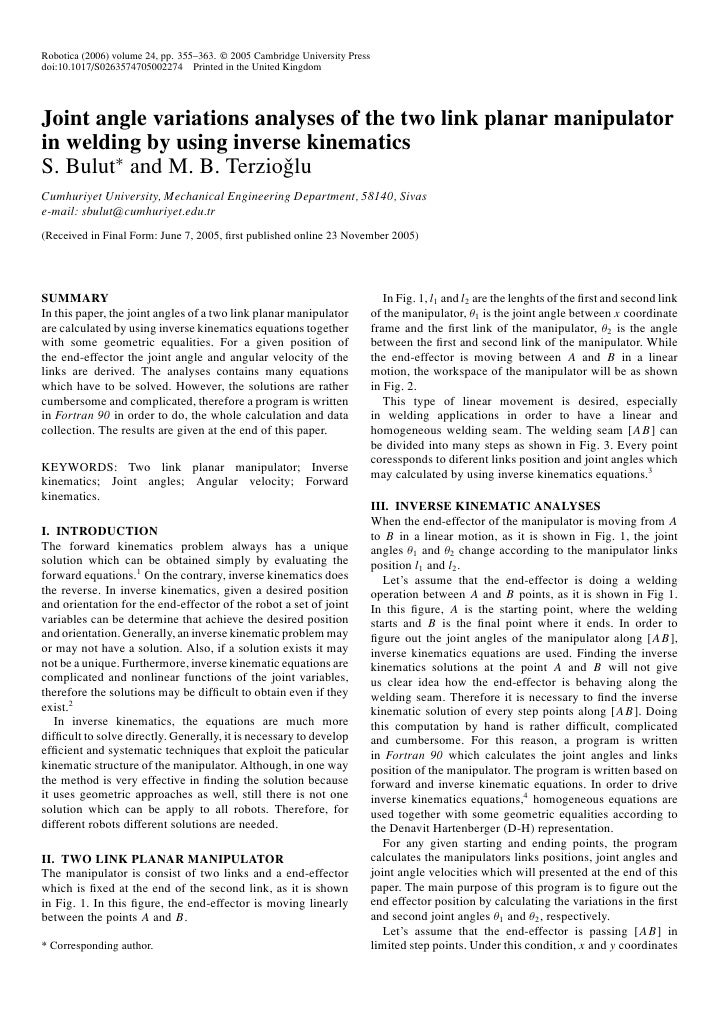Robotica (2006) volume 24, pp. 355–363. © 2005 Cambridge University Pressdoi:10.1017/S0263574705002274 Printed in the Unit...