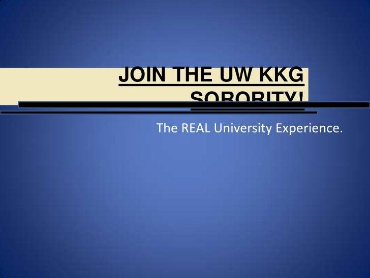 Join the UW KKG Sorority!