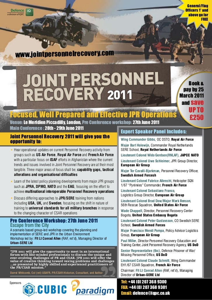 7th Annual Joint Personnel Recovery