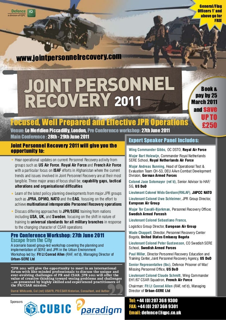 7th Annual Joint Personnel Recovery Final Agenda