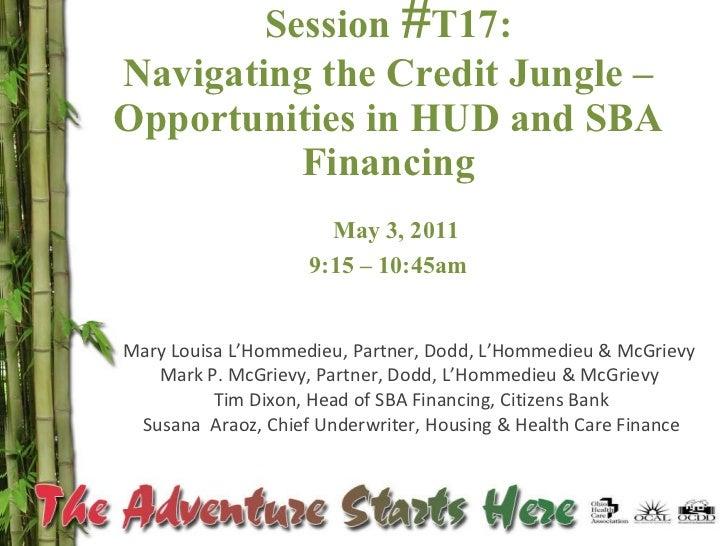 Joint Presentation On Hud & Sba 2011