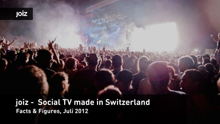 joiz - Social TV made in SwitzerlandFacts & Figures, Juli 2012