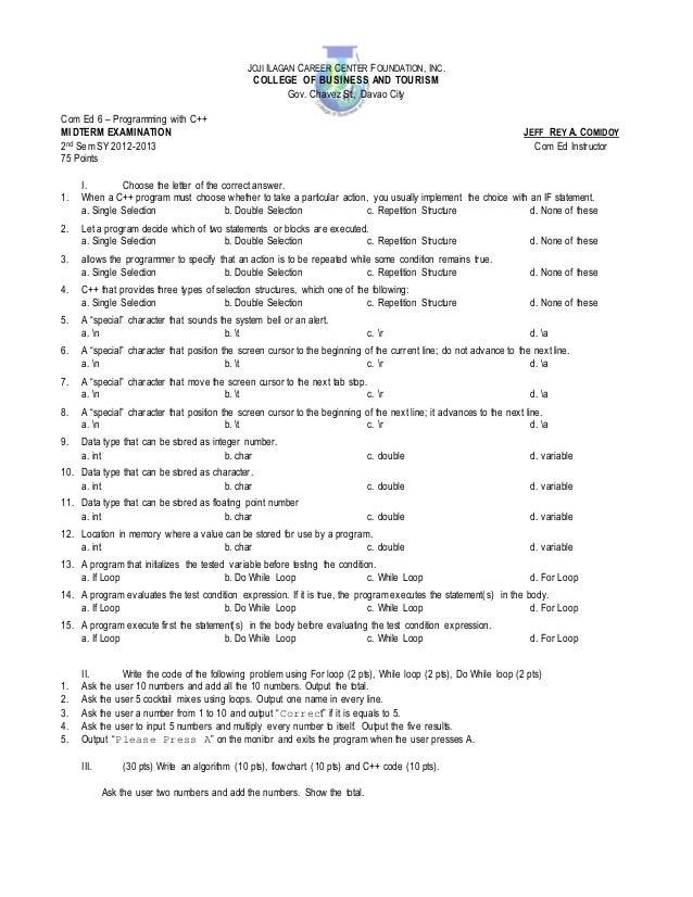 JOJI ILAGAN CAREER CENTER F OUNDATION , INC .                                                COLLEGE OF BUSINESS AND TOURI...
