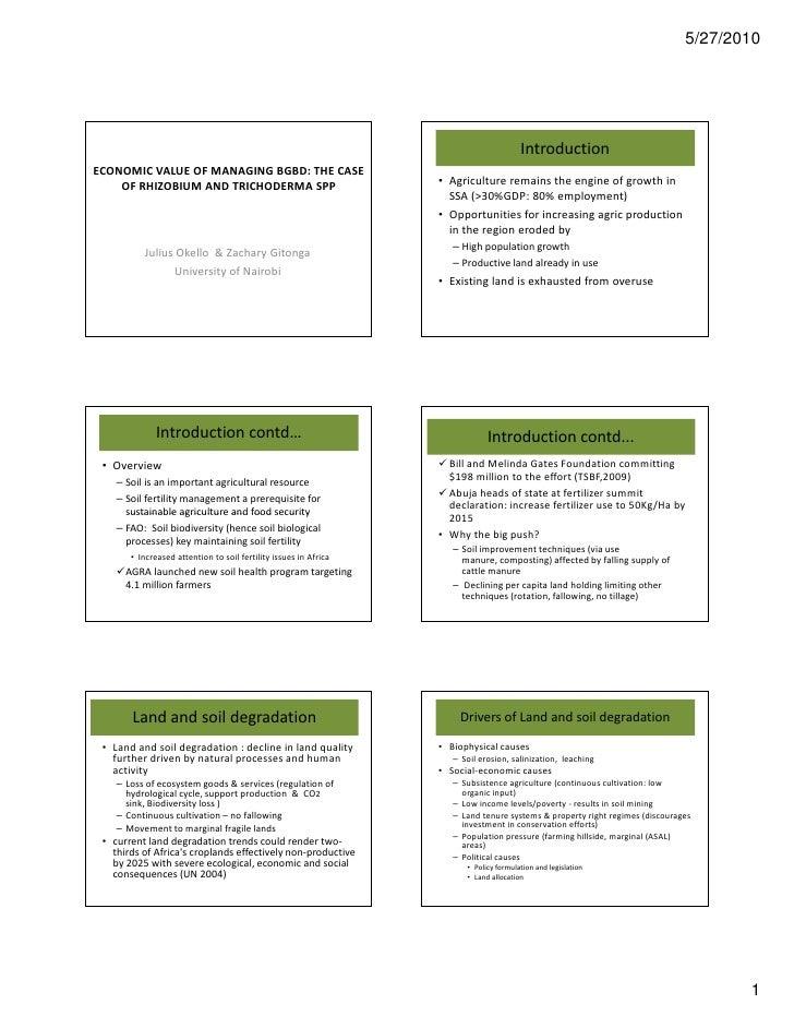 OP24:ECONOMIC VALUE OF MANAGING BGBD: THE CASE OF RHIZOBIUM AND TRICHODERMA SPP