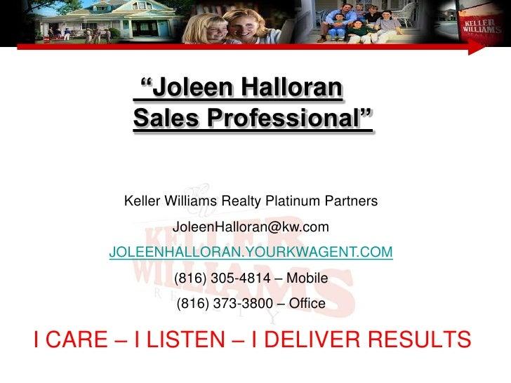 Joleen Halloran    Seller Presentation