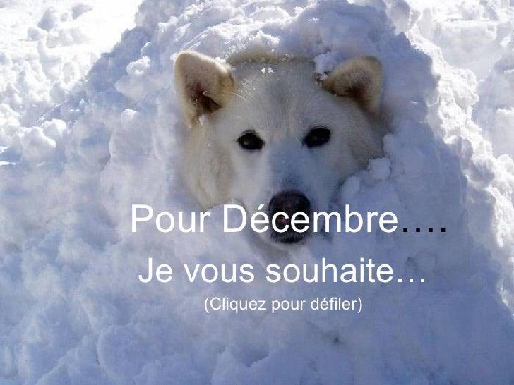 Pour Décembre …. Je vous souhaite… (Cliquez pour défiler)