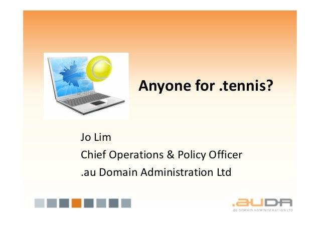 Jo lim, Anyone for .tennis?