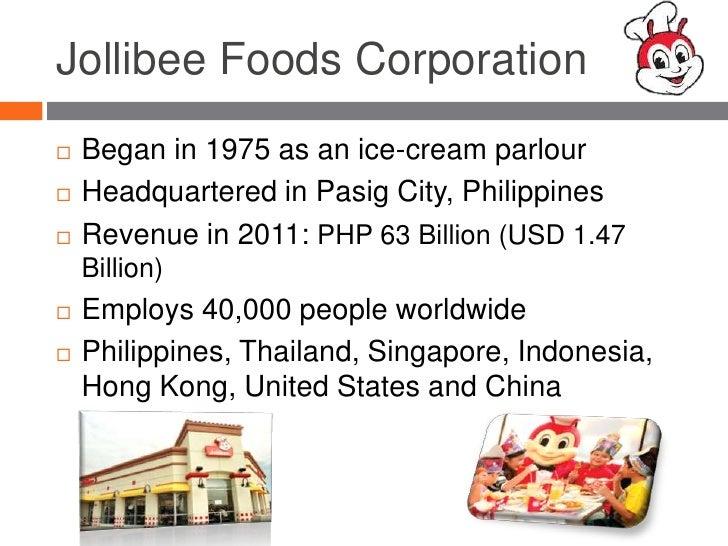 jollibee foods corporation strategic management case Case study: jollibee foods corporation problem statement: the newly appointed jollibee case study transnational management of jollibee food corporation.