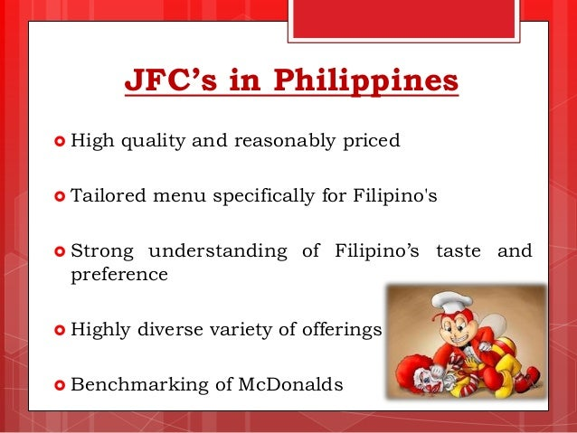 research paper about jollibee foods corporation Customer case study - jollibee foods corporation to view this resource, use  the form on the right at a glance: •company: one of the world's largest fast.