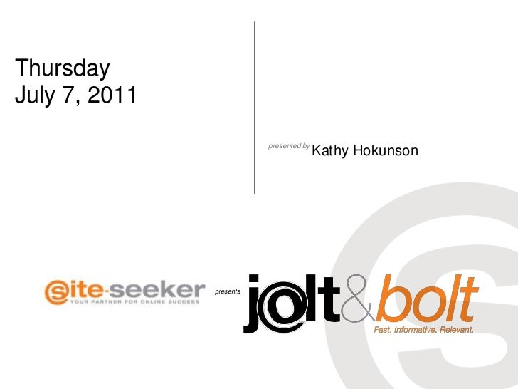 What's Google+?; Jolt & Bolt 7_7_2011