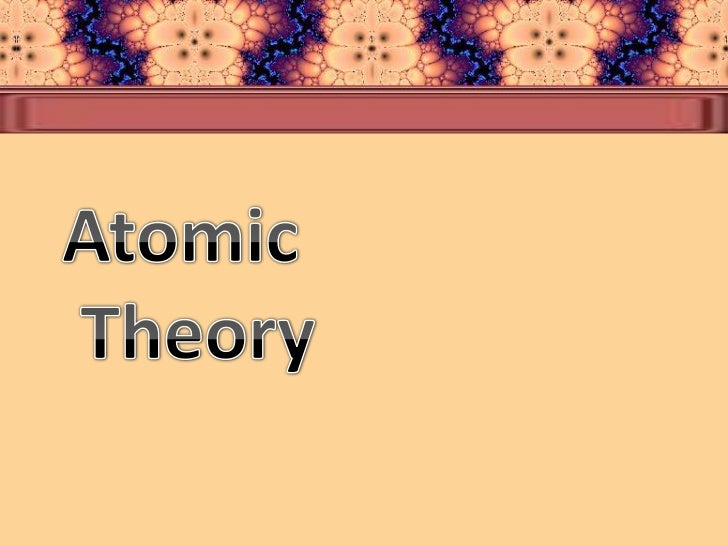 Chemistry/ The Development Of The Atomic Theory term paper 15547