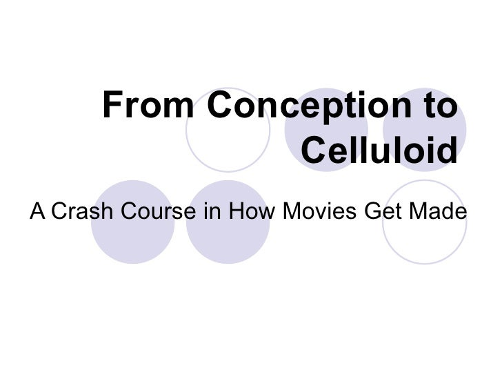 From Conception to Celluloid A Crash Course in How Movies Get Made