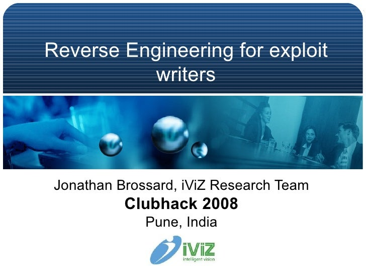 Reverse engineering for exploit writers jonathan brossard iviz