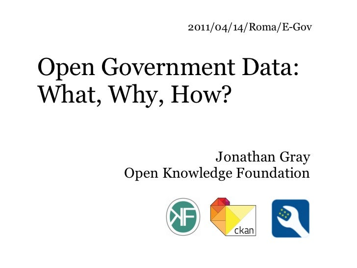 2011/04/14/Roma/E-GovOpen Government Data:What, Why, How?                  Jonathan Gray      Open Knowledge Foundation