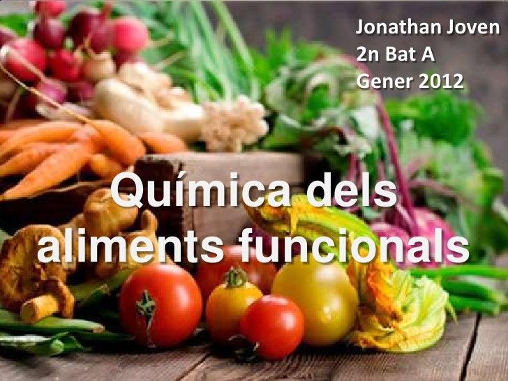 Jonathan Joven             2n Bat A             Gener 2012   Química delsaliments funcionals