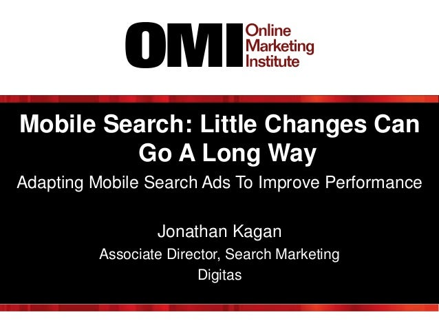 Mobile Search: Little Changes Can Go a Long Way