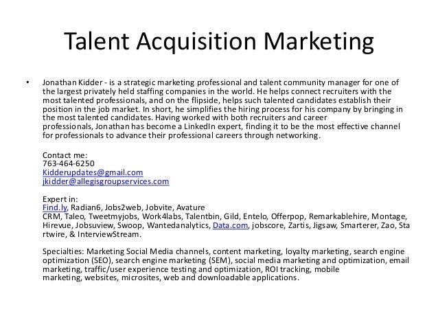 Talent Resume Sample Business Partner Resume Samples Visualcv Database  Sample Ezteher New And Impro Talent Leave  Talent Acquisition Resume
