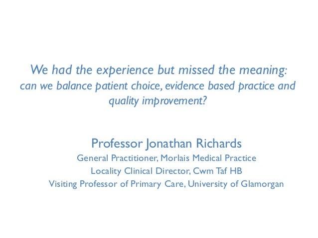 Jonathan Richards presentation WSPCR 2011