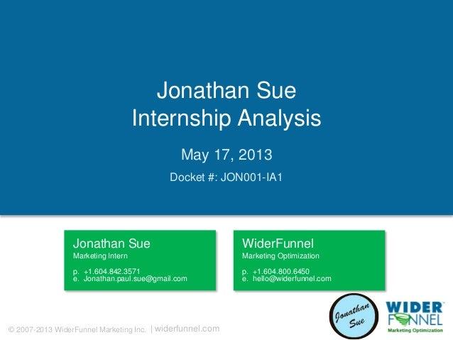 Jonathan sue   jon001-ia1 - internship analysis