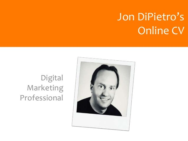 Jon DiPietro's Online CV