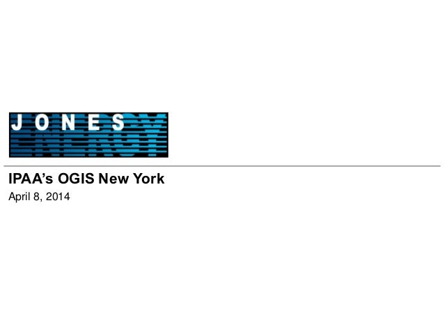 IPAA's OGIS New York April 8, 2014