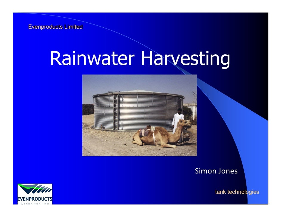 Rainwater Harvesting: Installation & Pitfalls - Simon Jones (Even Products Ltd)