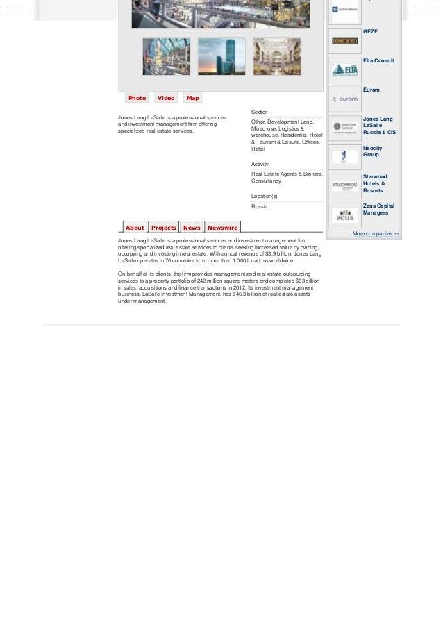 Jones Lang LaSalle Russia & CIS – Property Xpress (PropertyXpress.com)