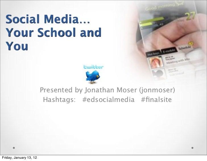 Jon Moser edSocialMedia Presentation at Loomis