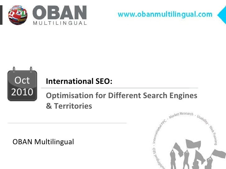 International SEO: Optimisation for Different Search Engines & Territories