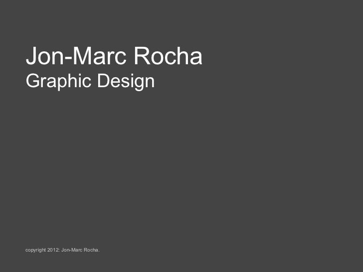 Jon Rocha Presentation