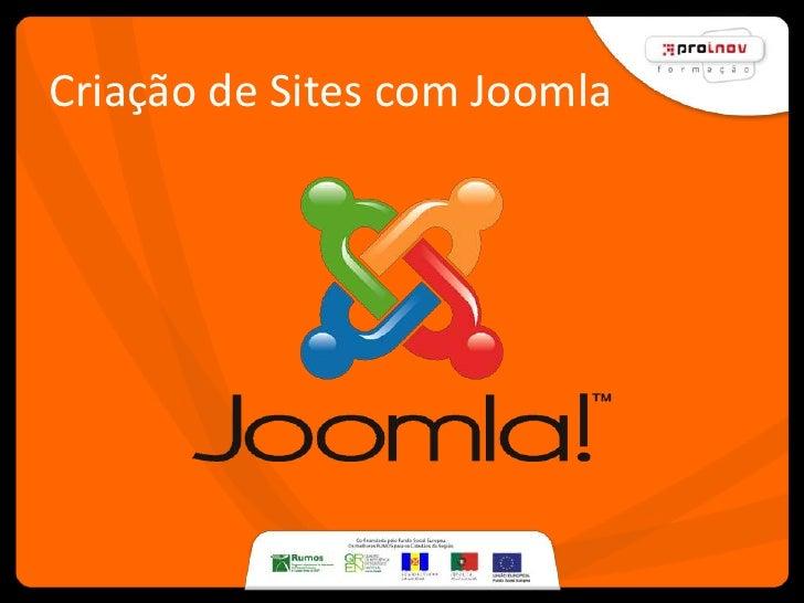 Criação de Sites com Joomla             Sérgio Azougado, Março2009