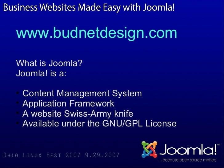 Joomla overview via catchy snaps