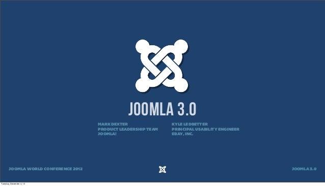 JOOMLA 3.0                                      MARK DEXTER               KYLE LEDBETTER                                  ...