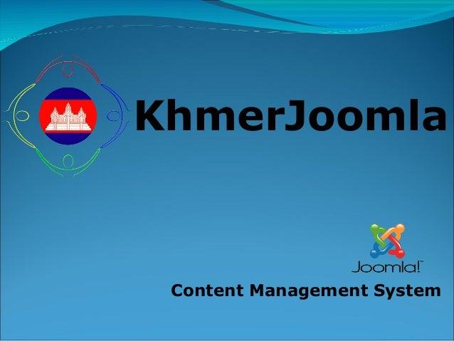 KhmerJoomla  Content Management System