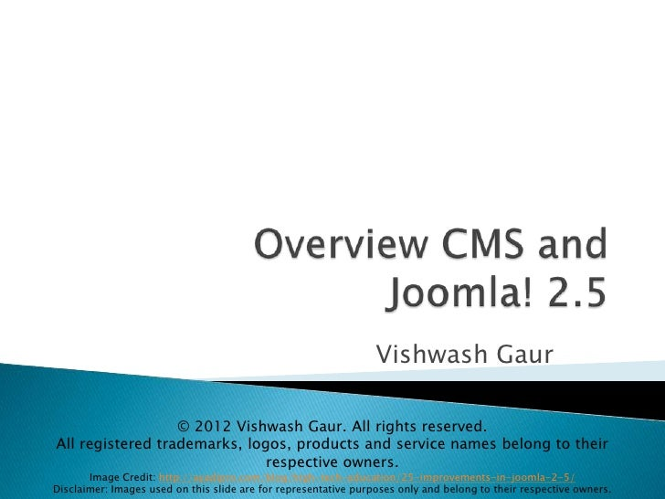 Overview of CMS and Joomla!