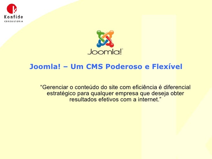 Joomla!  Cms Poderoso e Flexivel (Gerenciamento de Sites)