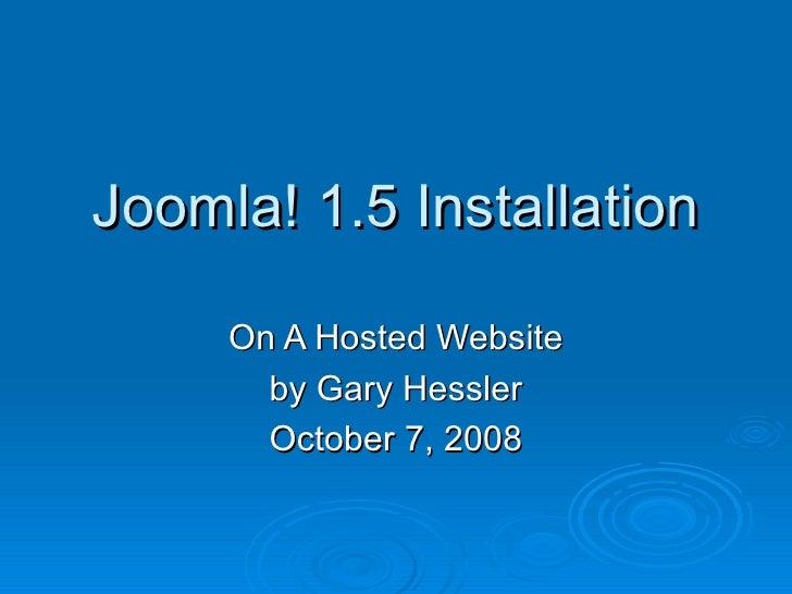 Joomla! Installation