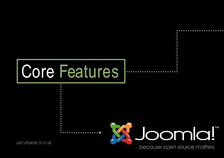 Joomla! v 1.5 Core Features