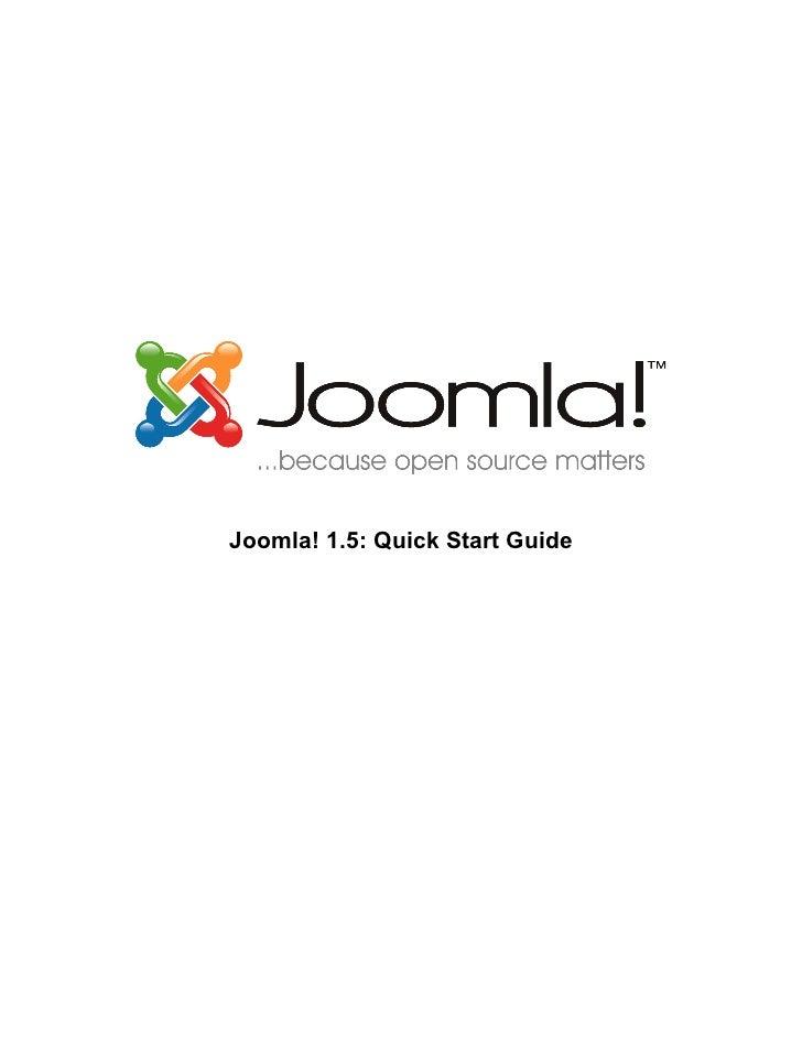 Joomla 15 quickstart