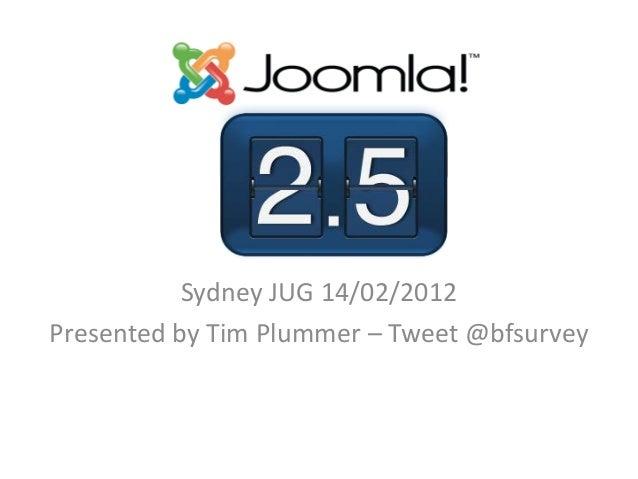 Sydney JUG 14/02/2012Presented by Tim Plummer – Tweet @bfsurvey