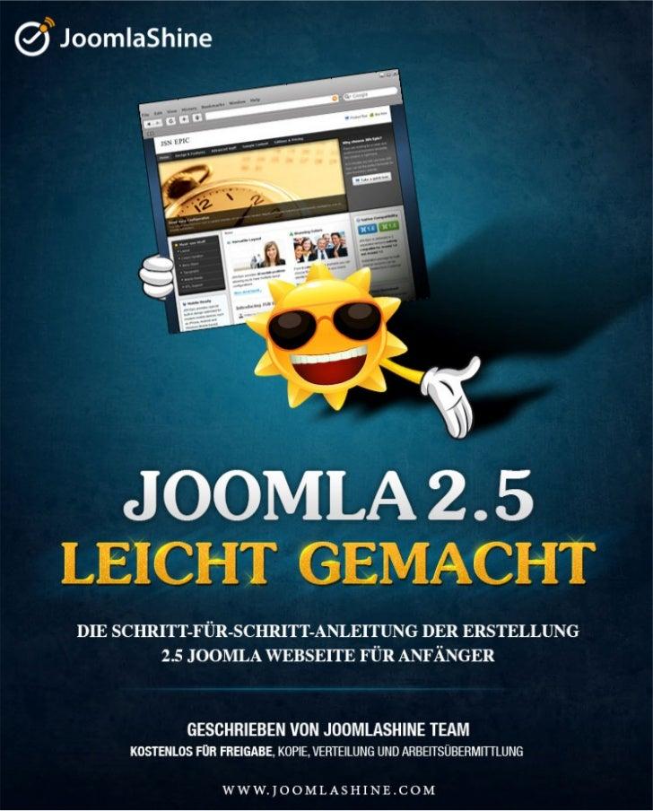 Joomla 2.5 Leicht Gemacht | Kostenlos Buch