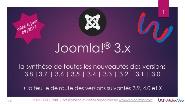 Joomla!3 - les nouveautés - Marc Dechèvre