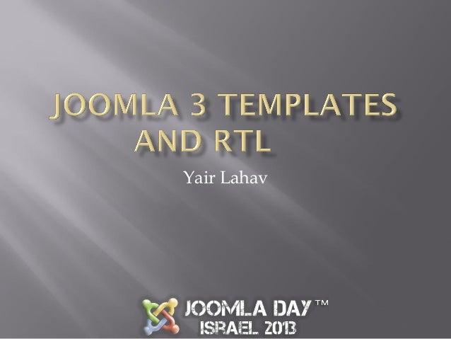 Joomla 3 templates and rtl