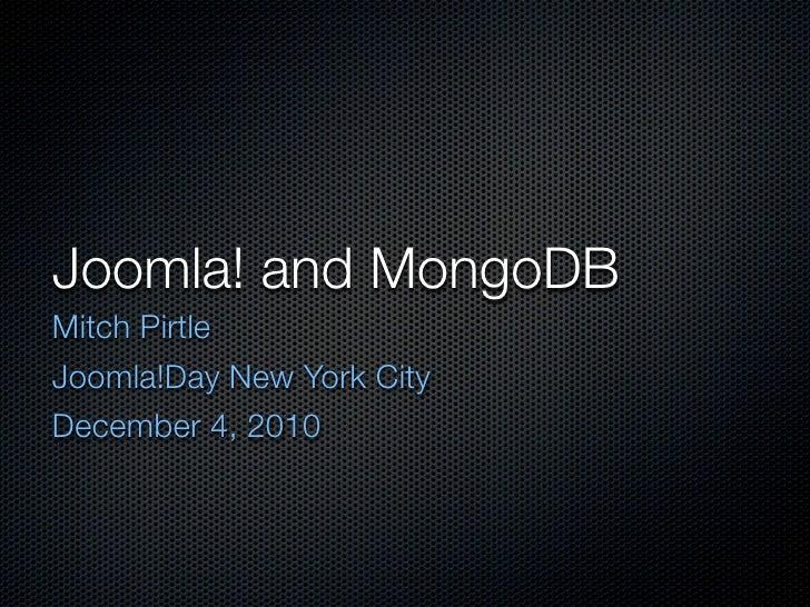 Joomla and MongoDB